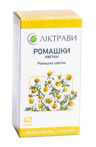 Ромашки квітки Ліктрави 40 г 1 пачка