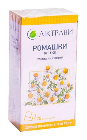 Ромашки квітки Ліктрави 1,5 г 20 фільтр-пакетів