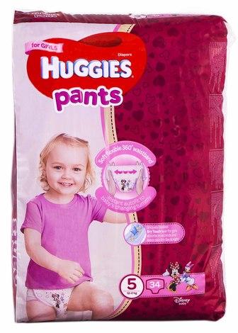 Huggies Pants 5 Трусики-підгузки для дівчаток 12-17 кг 34 шт