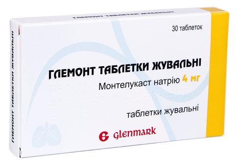 Глемонт таблетки жувальні 4 мг 30 шт