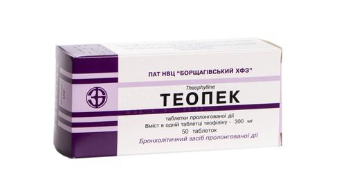 Теопек таблетки 300 мг 50 шт