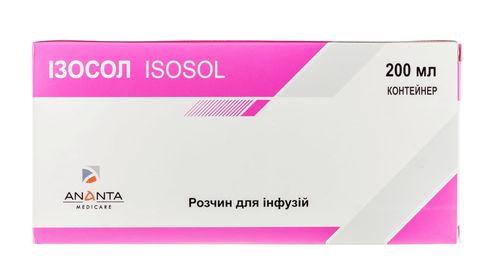 Ізосол розчин для інфузій 200 мл 1 контейнер