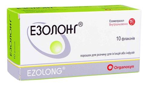 Езолонг порошок для ін'єкцій та інфузій 40 мг 10 флаконів