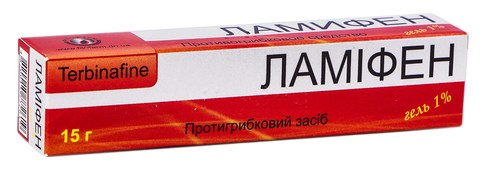 Ламіфен гель 1 % 15 г 1 туба