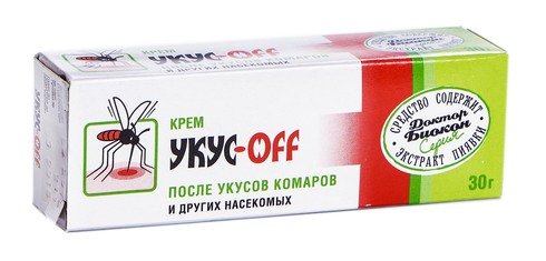 Доктор Біокон Укус-Офф Крем після  укусів комарів та інших комах 30 г 1 туба