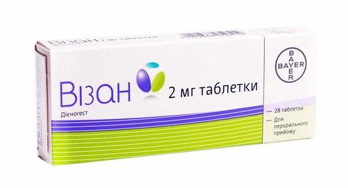 Візан таблетки 2 мг 28 шт