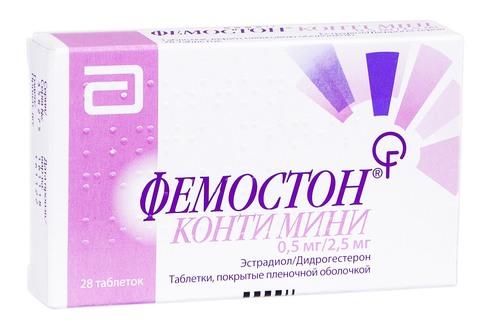 Фемостон Конті Міні таблетки 0,5 мг/2,5 мг  28 шт