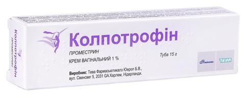 Колпотрофін крем вагінальний 1 % 15 г 1 туба