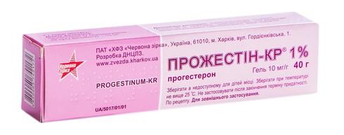 Прожестін-КР гель 1 % 40 г 1 туба