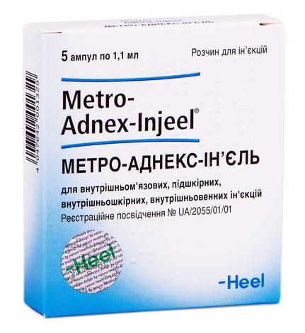 Метро-Аднекс-Ін'єль розчин для ін'єкцій 1,1 мл 5 ампул