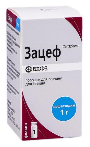 Зацеф порошок для ін'єкцій 1000 мг 1 флакон