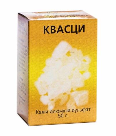 Галуни алюмокалієві фасовані порошок 50 г 1 коробка