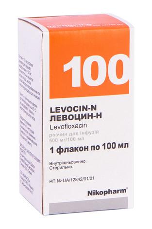 Левоцин-Н розчин для інфузій 500 мг/100 мл  100 мл 1 флакон