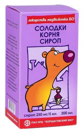 Солодки кореня сироп 250 мг/5 мл  200 мл 1 флакон