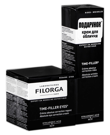 Filorga Time-Filler крем для контуру очей 15 мл +  крем для обличчя 30 мл 1 набір