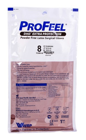 ProFeel DHD Extra Protection Рукавички хірургічні латексні стерильні неприпудрені розмір 8 1 пара