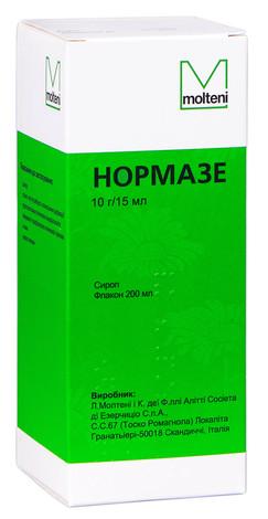 Нормазе сироп 10 г/15 мл  200 мл 1 флакон
