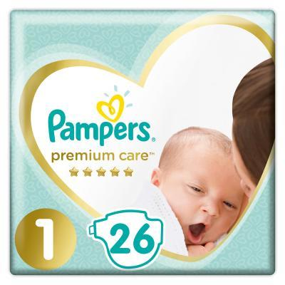 Pampers Premium Care 1 Newborn Підгузки дитячі 2-5 кг 26 шт