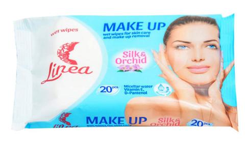 Linea Серветки вологі для зняття макіяжу з міцелярною водою 20 шт