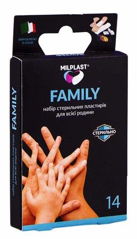 Milplast Набір стерильних пластирів для всієї родини 14 шт