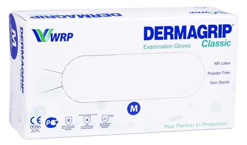 Dermagrip Classic Рукавички оглядові, натуральний латекс, неприпудрені, нестерильні розмір М 1 шт