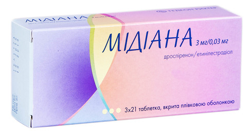 Мідіана таблетки 3 мг/0,03 мг  63 шт