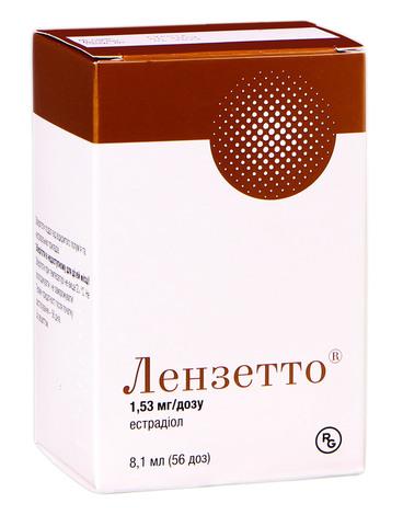 Лензетто спрей трансдермальний 1,53 мг/дозу 56 доз 1 флакон