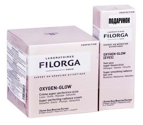 Filorga Oxygen-glow крем 50 мл + засіб для контуру очей 15 мл 1 набір