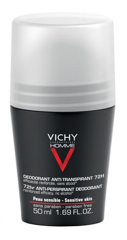 Vichy Homme Дезодорант-антиперспірант інтенсивний для чоловіків 72 години захисту 50 мл 1 флакон