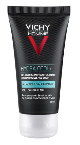 Vichy Homme Hydra cool+ Гель зволожуючий з охолоджуючим ефектом для обличчя та контуру очей 50 мл 1 туба
