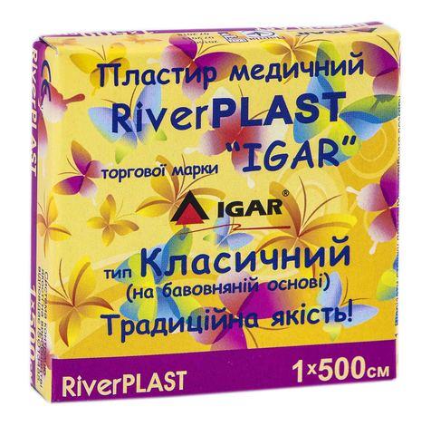 Igar RiverPlast Пластир медичний на бавовняній основі 1х500 см 1 шт