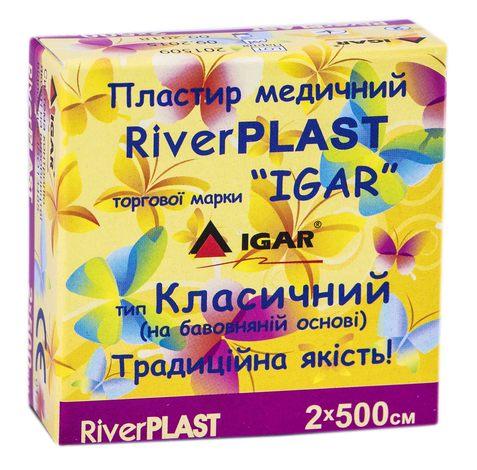 Igar RiverPlast Пластир медичний на бавовняній основі 2х500 см 1 шт