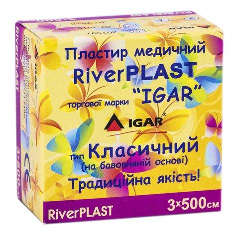Igar RiverPlast Пластир медичний на бавовняній основ 3х500 см 1 шт