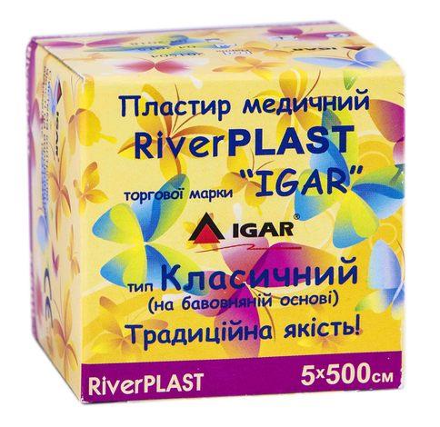 Igar RiverPlast Пластир медичний на бавовняній основі  5х500 см 1 шт