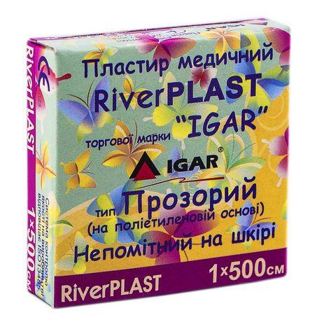 Igar RiverPlast Пластир медичний прозорий на поліетиленовій основі 1х500 см 1 шт