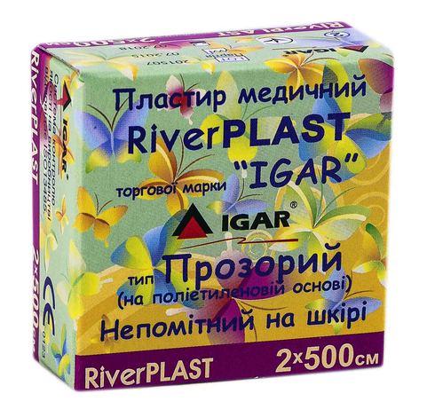 Igar RiverPlast Пластир медичний прозорий на поліетиленовій основі 2х500 см 1 шт