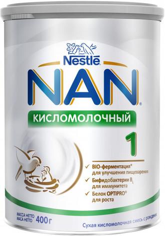 NAN Кисломолочний 1 Суха дитяча молочна суміш з народження 400 г 1 банка