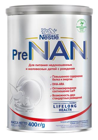 NAN PreNan Суха молочна суміш для недоношених дітей з народження 400 г 1 банка