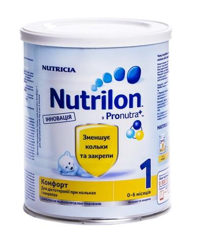 Nutrilon Комфорт 1 Суміш молочна 0-6 місяців 400 г 1 банка