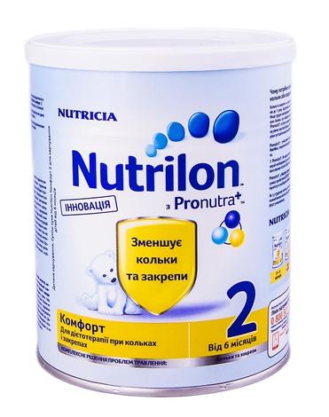 Nutrilon Комфорт 2 Суміш молочна 6-12 місяців 400 г 1 банка