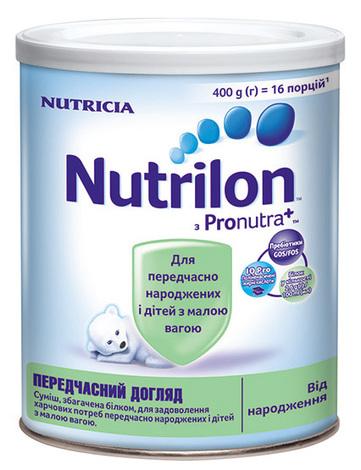 Nutrilon Передчасний догляд Суміш молочна від народження 400 г 1 банка