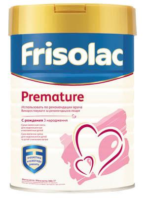 Friso Frisolac Premature Суміш молочна від 0 місяців 400 г 1 коробка