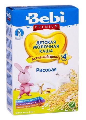 Bebi Premium Каша молочна рисова з 4 місяців 250 г 1 коробка