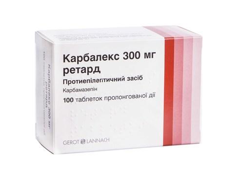 Карбалекс 300 мг ретард таблетки 100 шт