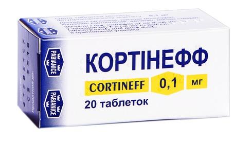 Кортінефф таблетки 0,1 мг 20 шт