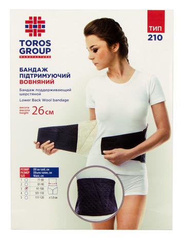 Toros-Croup 210 Бандаж підтримуючий шерстяний Розмір 3 1 шт