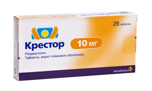 Крестор таблетки 10 мг 28 шт