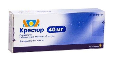 Крестор таблетки 40 мг 28 шт
