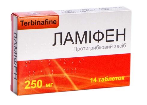 Ламіфен таблетки 250 мг 14 шт