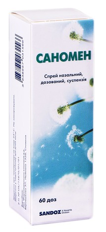 Саномен спрей назальний 50 мкг/доза 60 доз 1 контейнер
